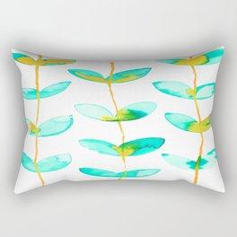 corazones enlazados blue Rectangular Pillow