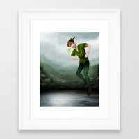peter pan Framed Art Prints featuring Peter Pan by Destiny Jade