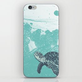 Sea Foam Sea Turtle iPhone Skin