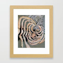 Ribbed Framed Art Print