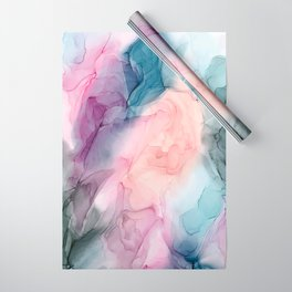Dark and Pastel Ethereal- Original Fluid Art Painting Wrapping Paper