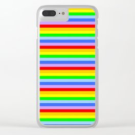 variation on the rainbow 2 Clear iPhone Case