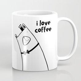 Scandinavian style woodland bear with crown Coffee Mug