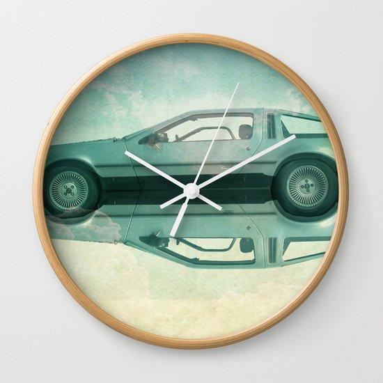 Siamese  Delorean Wall Clock