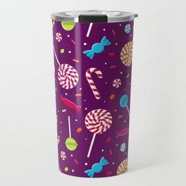Delightful Candy Pattern Travel Mug