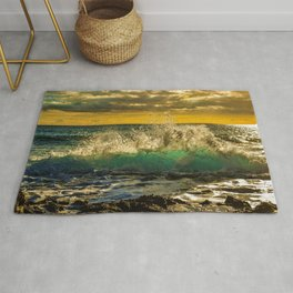 Wave Series Photograph No. 12 - Yellow Sunset Rug