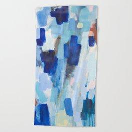 Blues - abstract art Beach Towel