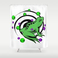 frog Shower Curtains featuring Frog  by Michael P. Moriarty