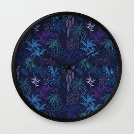 Dark Blue Jangle  Wall Clock