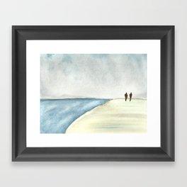 Walk at the Beach Framed Art Print