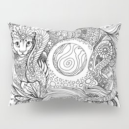 Cat dragon Pillow Sham