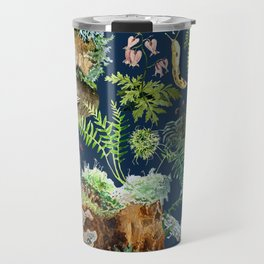 Fungi & Ferns Blue Travel Mug