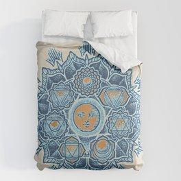 Alyson Anahata Seven Chakra Sun Flower Mandala 1 Comforters