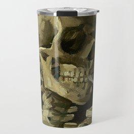 Skull of a Skeleton with Burning Cigarette - Van Gogh Travel Mug