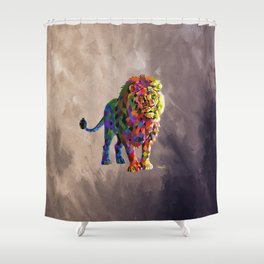 Cubed Lion King Shower Curtain