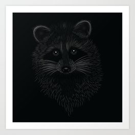 Raccoon Totem Animal Art Print