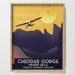 Cheddar Gorge vintage travel poster. Serving Tray