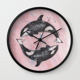 Orca Killer Whales Wall Clock