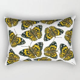 Painted lady butterfly pattern Rectangular Pillow