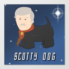 Scotty Dog Canvas Print