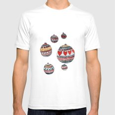 Baubles MEDIUM White Mens Fitted Tee