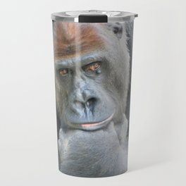Lowland Gorilla in Deep Thought Travel Mug