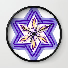 Hanukkah Star of David - 3 Wall Clock
