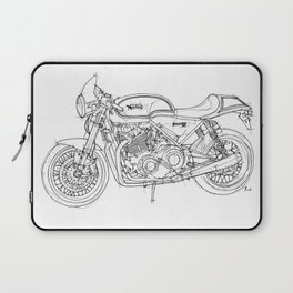 NORTON COMMANDO 961 CAFE RACER 2011, original artwork Laptop Sleeve