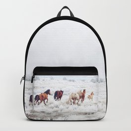 Winter Horses Backpack