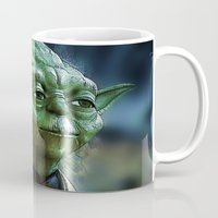 yoda Mugs featuring Yoda by Robin Curtiss