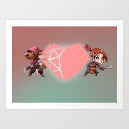 Heart Shaped Valentine Art Print