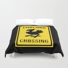 FINAL FANTASY: WARNING, CHOCOBO CROSSING Duvet Cover