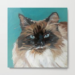 Tipper the Cat Portrait Metal Print