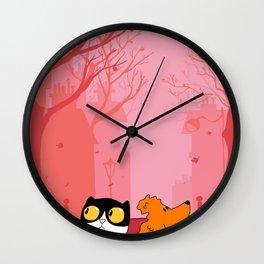 Thoughtful Dharma & Maya Wall Clock