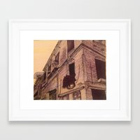 modest mouse Framed Art Prints featuring Modest Beginings by Erin J.
