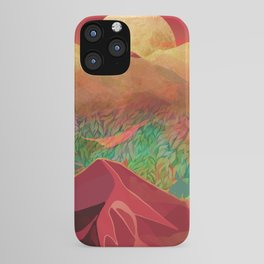 """Tropical golden sunset over fantasy pink forest"" iPhone Case"
