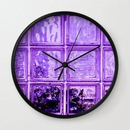 Purple window. Wall Clock