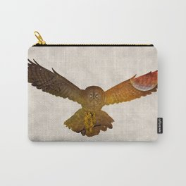 Moonlight Owl - Watercolor Backgrond Carry-All Pouch