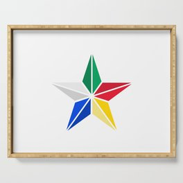 Druze star symbol of Druze religion Lebanon Serving Tray