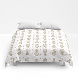 Golden pineapple pattern Comforters