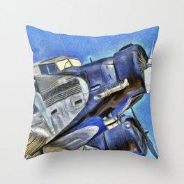 Junkers Ju 52 Van Gogh Throw Pillow