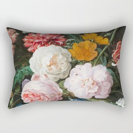 Dutch Golden Age Floral Painting Rectangular Pillow