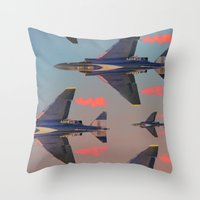 planes Throw Pillows featuring planes planes planes by Sarah Brust