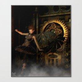 Fae of the Ticker Clocks Canvas Print