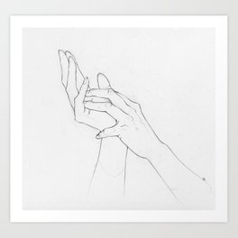 Untitled Hands Art Print