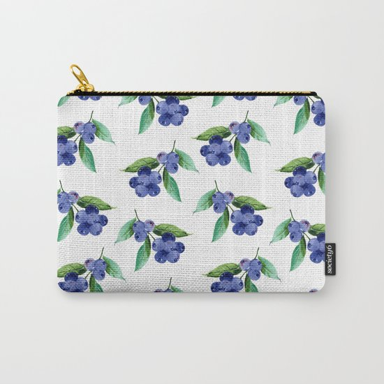 Blueberries Stripes Carry-All Pouch