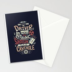 Driver picks the music Stationery Cards
