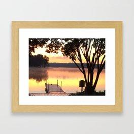 Dock at Sunrise Framed Art Print