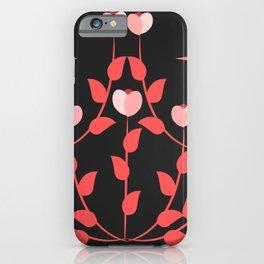 Pink floral fantasy dark iPhone Case