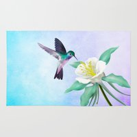 hummingbird Area & Throw Rugs featuring hummingbird. by haroulita